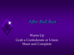 Outcomes of 1st Bull Run PPT