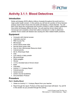 3.1.1: Blood Detectives