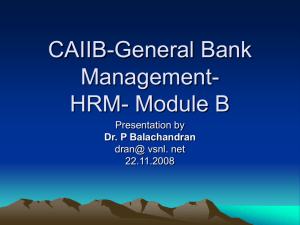 Module B - Human Resources Management