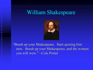 Shakespeare - PV9thGradeEnglish