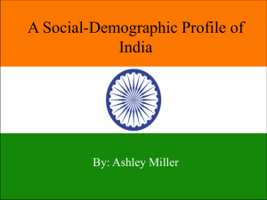 A Social-Demographic Profile of India