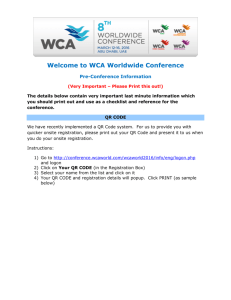Welcome to WCA Worldwide Conference