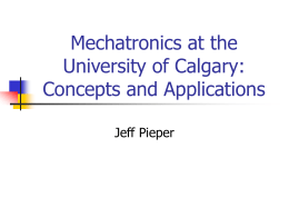 Mechatronics: Concepts and Applications