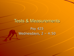 Tests & Measurements - People Server at UNCW