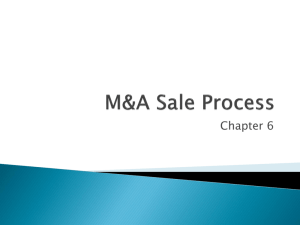 M&A Sale Process - Villanova University