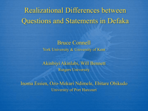 Realizational Differences between Questions and Statements in