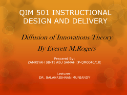 PPT OF DOI - Instructional Design & delivery / 2010 + Research