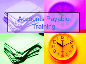 Accounts Payable Training - Accounts Payable Training