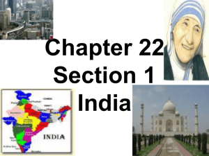 chapter 22 section 1 india