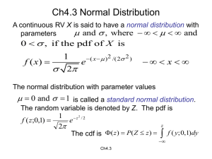 Ch4.3 Normal Distribution