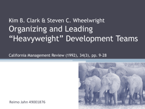 Organizing and leading 'heavyweight' development teams