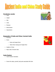 Ancient India and China Study Guide Vocabulary words