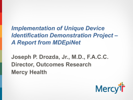 MDEpi UDI Demo FDA Epi Conf Final