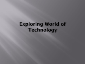 Exploring World of Technology