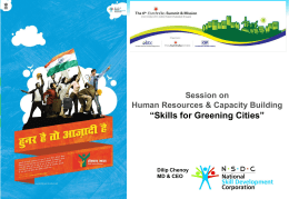 Session on Human Resources & Capacity
