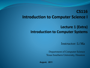 cs116 lecture - Department Of Computer Science