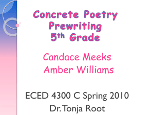 Concrete Poetry Prewriting 5th Grade