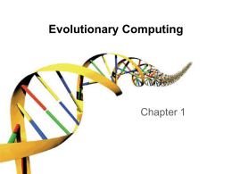 Problems to - Introduction to Evolutionary Computing