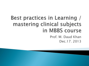 Best practices in Learning / mastering clinical subjects in MBBS course