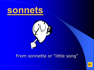 About sonnets - York University