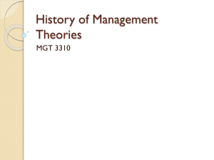 History of Management Theories