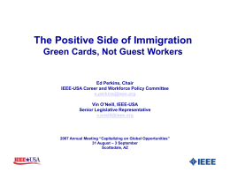 The Positive Side of Immigration - IEEE-USA