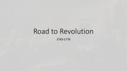 Road to Revolution IB 2014