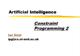 from the second lecture on Constraints on AI in