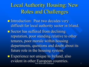 Local Authority Housing: New Roles and Challenges
