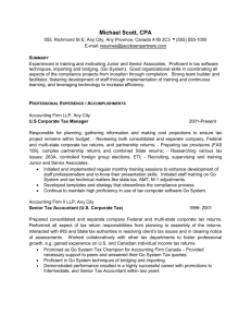 Sample Resume - Jacobsen Partners