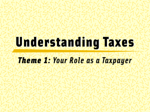 Understanding Taxes – IRS PPT