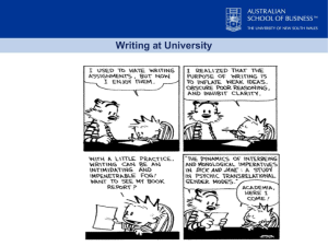 Writing at university tends to use complexity