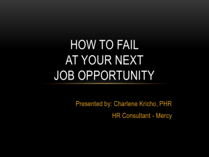 How to Fail at Your Next Job Opportunity