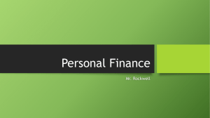 Personal Finance - Mr. Rockwell's Site