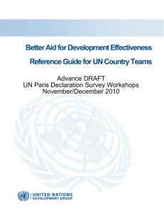 UNDG Aid Effectiveness Reference Guide