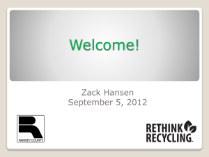 Creative Campaigns - Rethink Recycling
