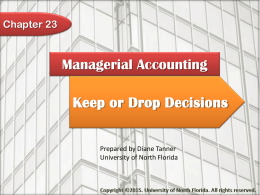 Managerial Accounting Chapter 23
