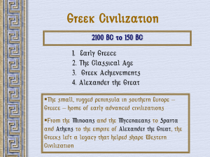 Greek Civilization PPT