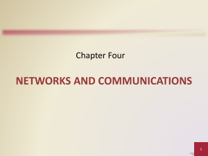 Chapter 4- NETWORKS AND COMMUNICATIONS