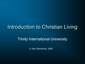 Introduction to Christian Living