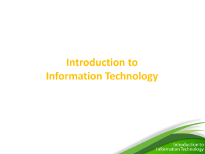 Information Technology - Lesson Portal