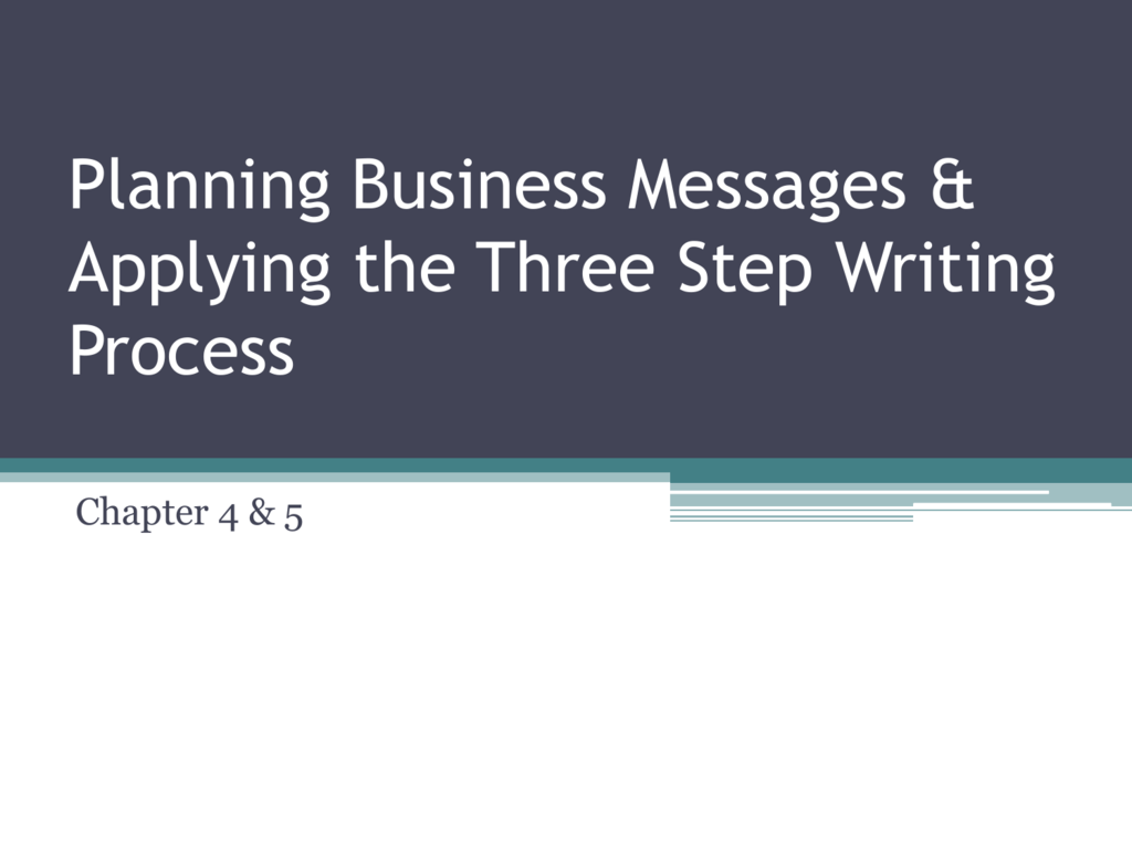 three steps of the writing process