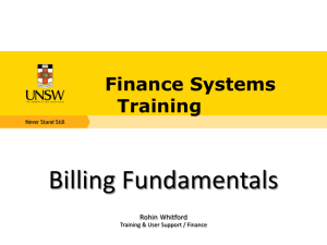 Billing Fundamentals - University of New South Wales