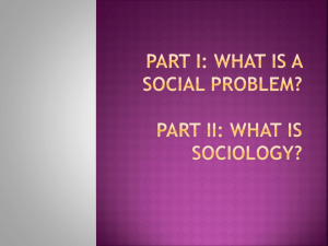 Part I: what is a social problem?