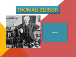 Thomas Edison Quiz