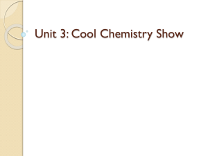 Unit 3: Cool Chemistry Show