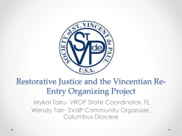 Vincentian Re-Entry Organizing Project