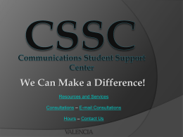 CSSC We Can Make a Difference!