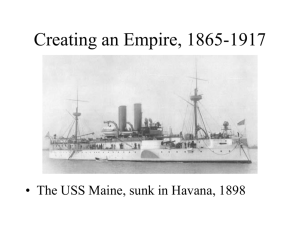 Lecture S7-- Creating an Empire 1865-1917
