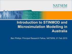 Introduction to STINMOD and Microsimulation Modelling in Australia
